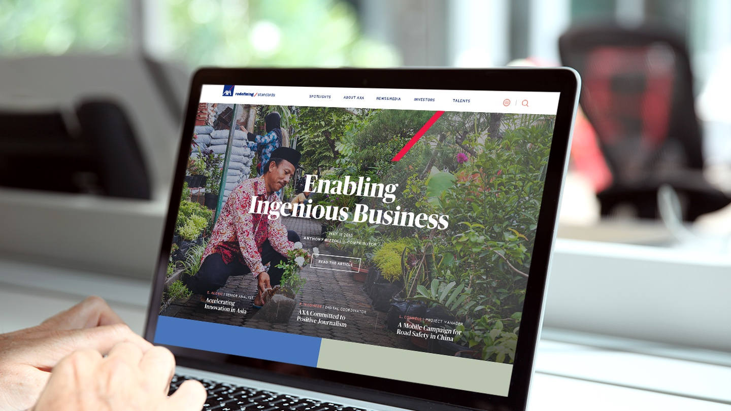 AXA website UI helps users see insurance in new ways