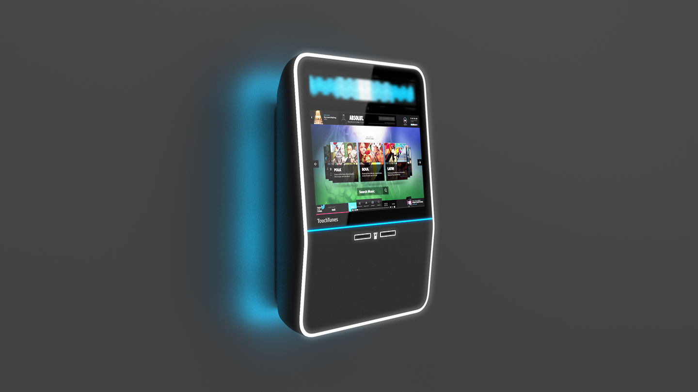 Touchtunes digital jukebox design