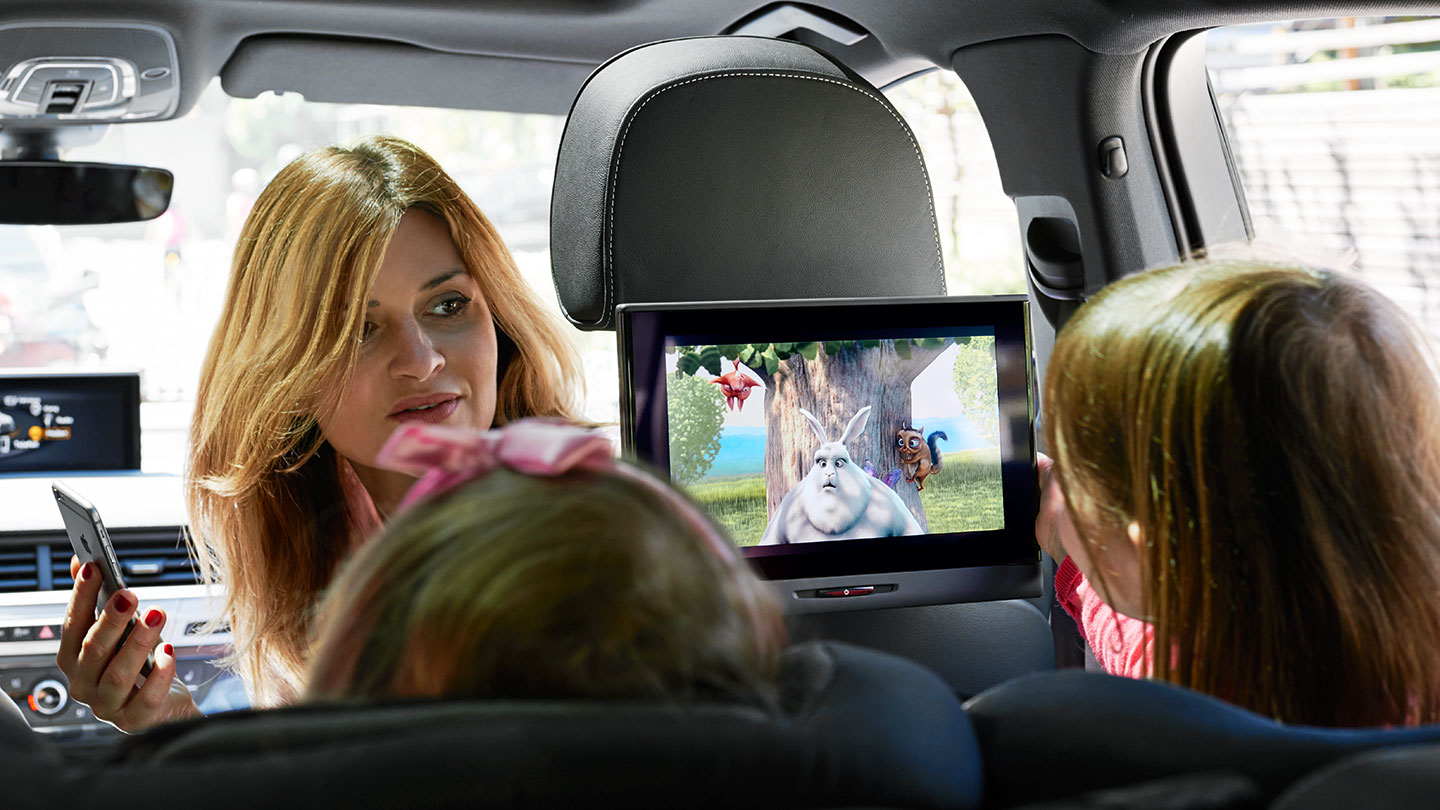 Audi Entertainment mobile, innovative rear seat entertainment system designed by frog