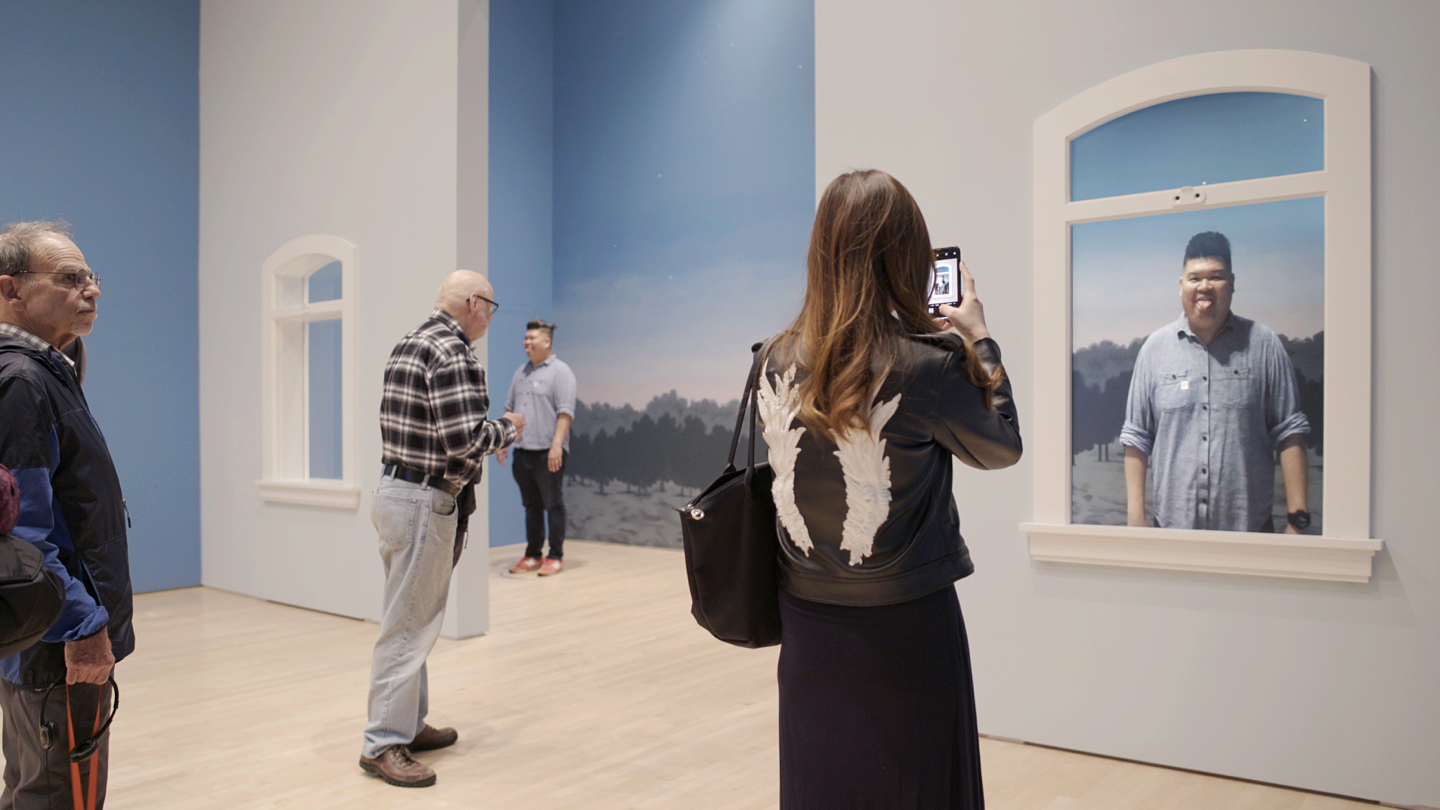 AR art experience at SFMOMA
