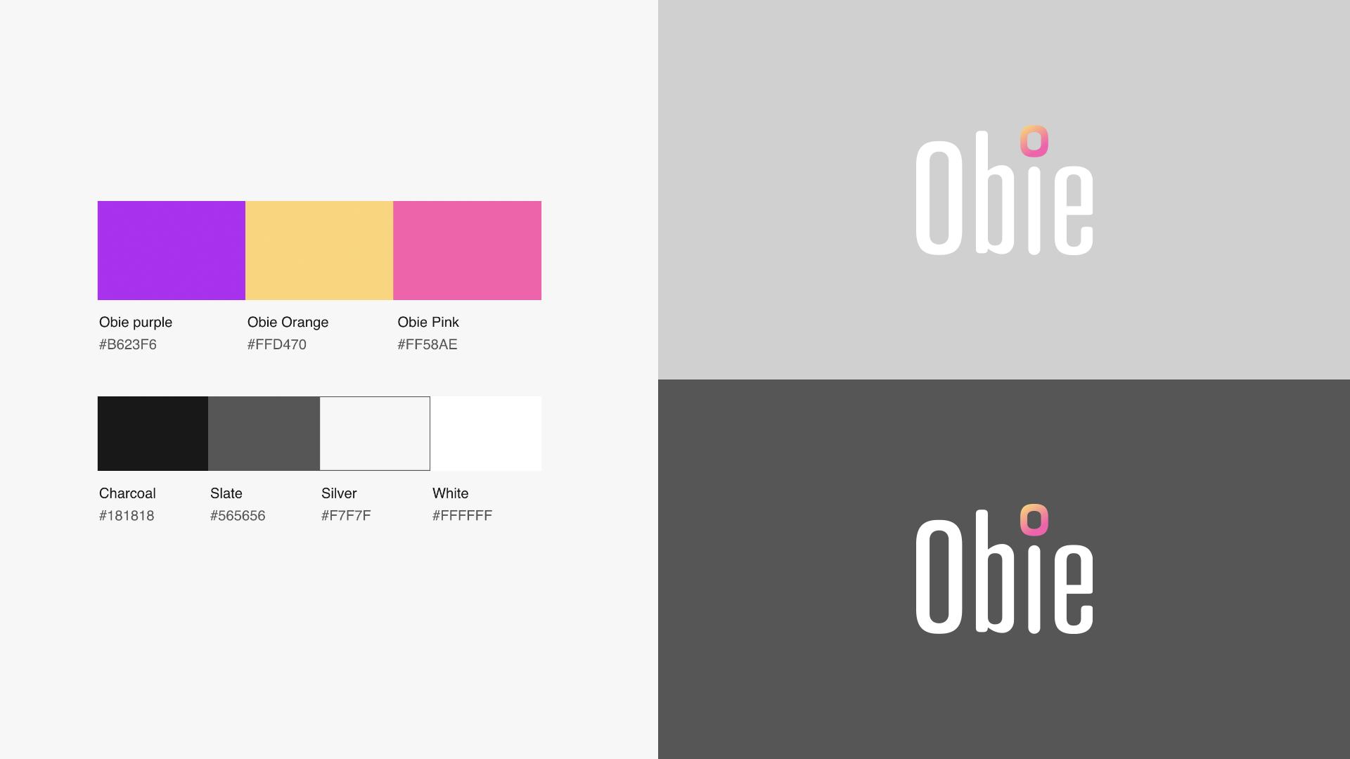 Obie gaming system brand identity